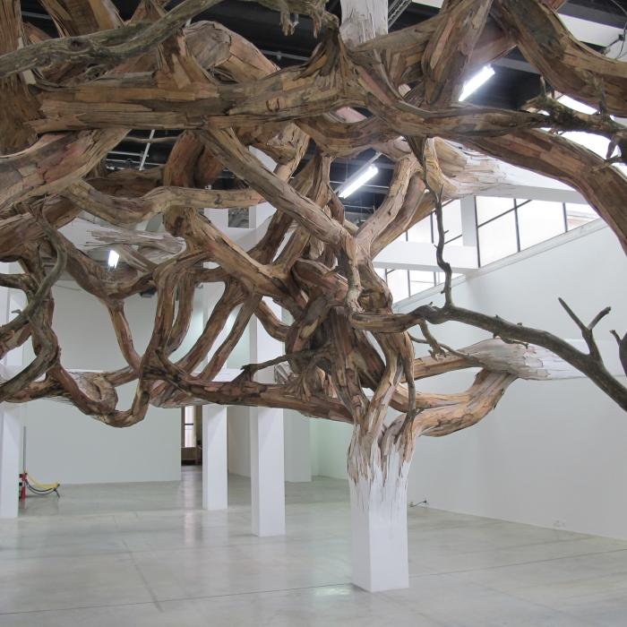 """Henrique Oliveira, """"Baitogogo"""", Palais de Tokyo, Paris (2013)"""